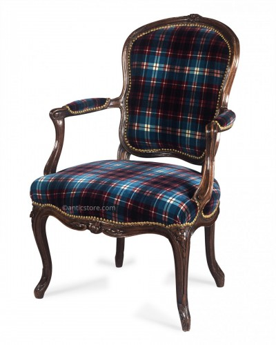 Fine Louis XV period armchair stamped by Étienne MEUNIER