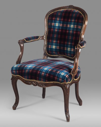 Fine Louis XV period armchair stamped by Étienne MEUNIER - Seating Style Louis XV