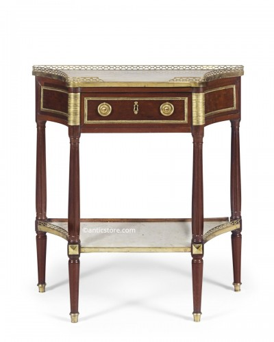 Louis XVI period table console in mahogany