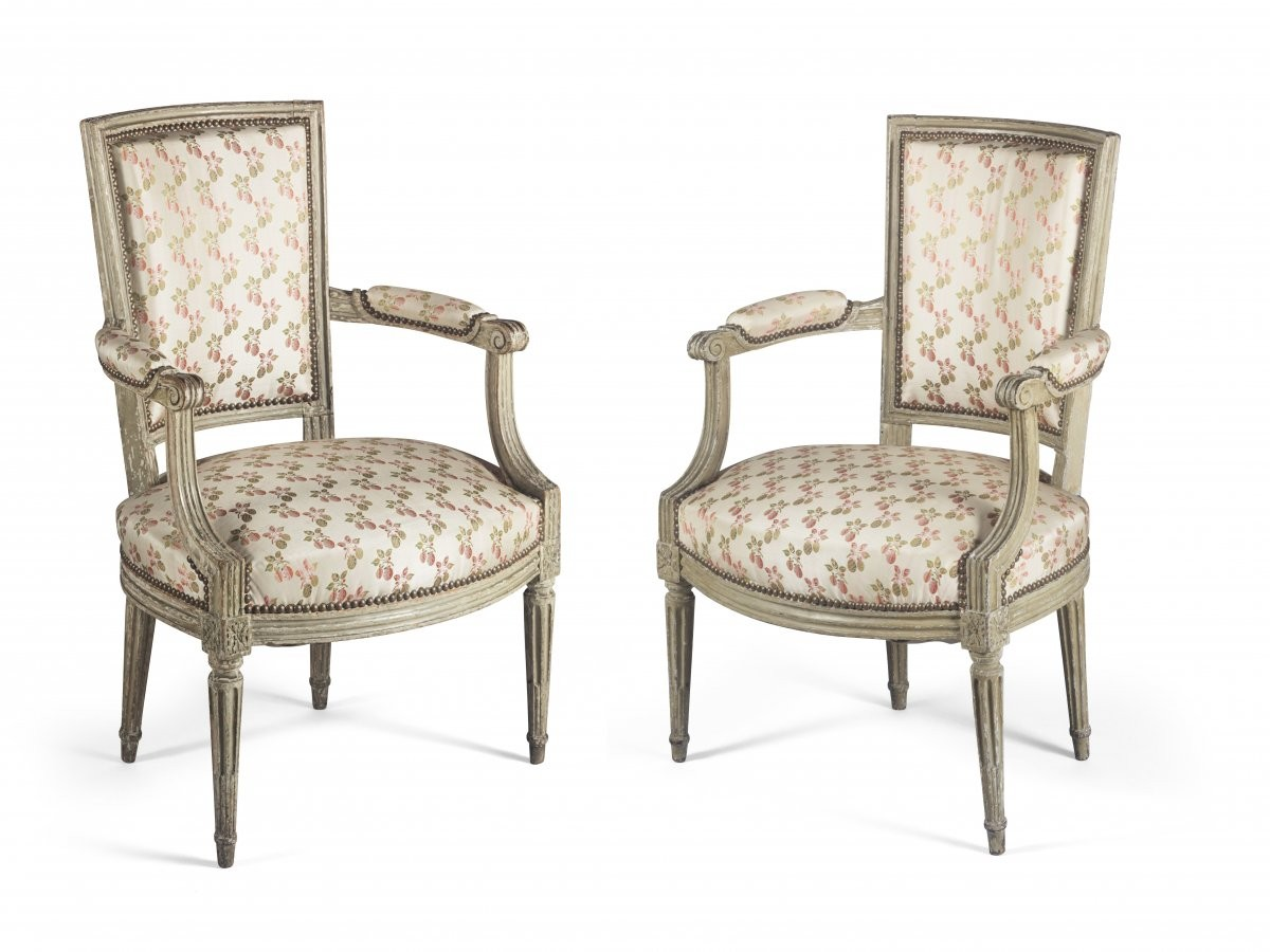 Paire of armchairs, France, Louis XVI period