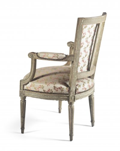 Paire of armchairs, France, Louis XVI period -
