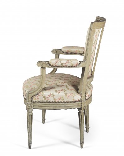 Paire of armchairs, France, Louis XVI period - Louis XVI
