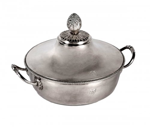 Antique French Sterling Silver Vegetable Dish, by MASSON, Paris 1798-1809