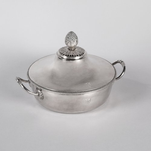 Antique French Sterling Silver Vegetable Dish, by MASSON, Paris 1798-1809 - Antique Silver Style Directoire
