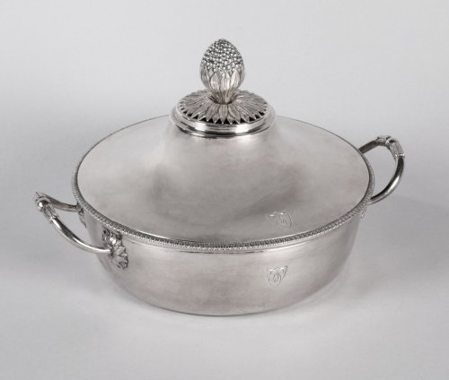 Directoire - Antique French Sterling Silver Vegetable Dish, by MASSON, Paris 1798-1809