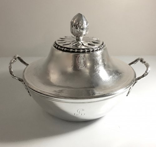 Antique French Sterling Silver Vegetable Dish, by Béchard (Orléans 1782-84) - Antique Silver Style Louis XVI
