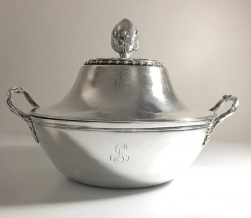 Antiquités - Antique French Sterling Silver Vegetable Dish, by Béchard (Orléans 1782-84)
