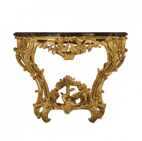 Regence Period Hunting Decor Console
