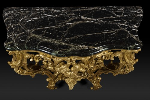Regence Period Hunting Decor Console -