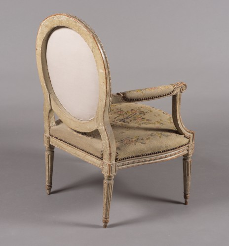 "Suite of four Louis XVI fauteuils ""à la reine"" stamped N-T Porrot - Seating Style Louis XVI"