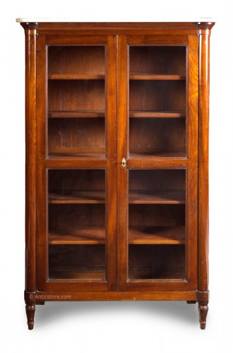 Louis XVI mahogany vitrine or bookcase, stamped Stöckel. 18th century.