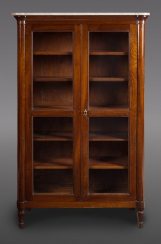 Furniture  - Louis XVI mahogany vitrine or bookcase, stamped Stöckel. 18th century.
