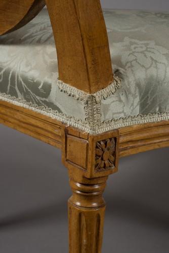 """Pair of Louis XVI fauteuil """"à la reine"""" stamped Pierre BERNARD -"""