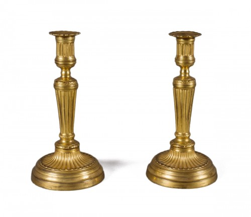 Pair of ormolu candlesticks, Louis XVI period