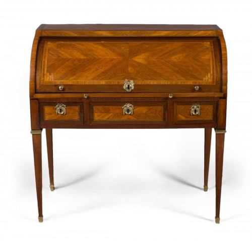 Cylinder desk stamped M. OHNEBERG, Louis XVI period (18th century)