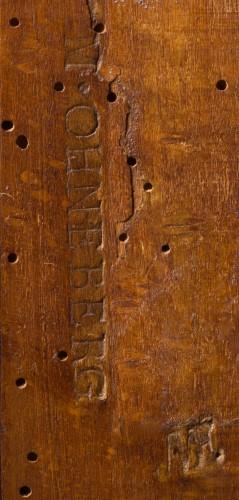 Cylinder desk stamped M. OHNEBERG, Louis XVI period (18th century) -