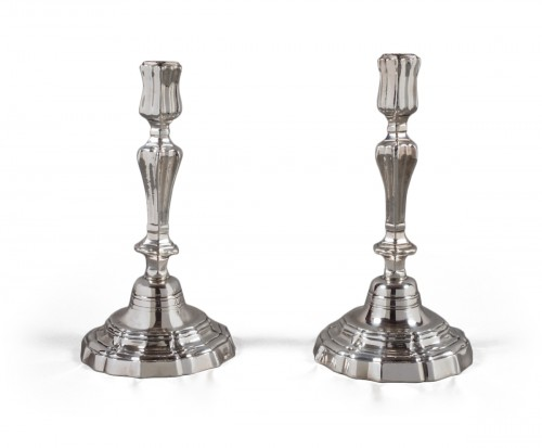 Pair of candlesticks, Louis XIV period (1643-1710)