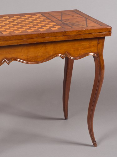 Games Table In Solid Mahogany, Louis XV Period (18th Century), Work From Po - Furniture Style Louis XV