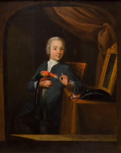 Paintings & Drawings  - Child with parrot, German school of the early eighteenth century