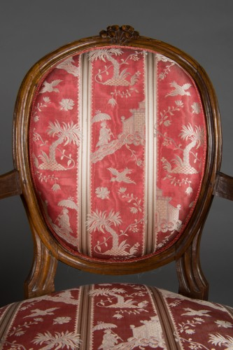 Seating  - Pair of cabriolet armchairs, France, Transition style, 18th century period