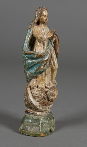 Sculpture  - Virgin of the Assumption, Spain or Portugal, 17th century