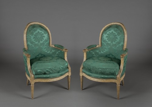 Seating  - Pair of Louis XVI bergères stamped NDLPS for Nicolas-Pierre DELAPORTE, 18th