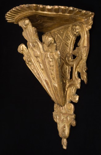 - Gilded wall bracket, Italy, early 18th century