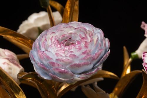 Decorative Objects  - Sèvres, bouquet of porcelain flowers
