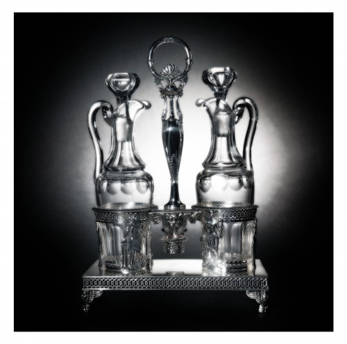 Silver oil and vinegar cruet, Restauration period (1814-1830), by Chatenay - Restauration - Charles X