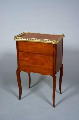 Furniture  - Table de salon chiffonnière Transition Louis XV-Louis XVI stamped COIGNIARD