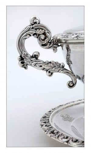 Silver drageoir by VEYRAT, Paris 1832-1840, Louis-Philippe period - Antique Silver Style Louis-Philippe