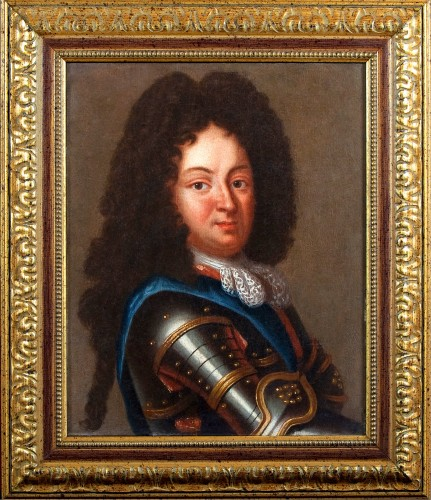 Portrait of Duc d'Orleans, Regent of France, after J.B SANTERRE, 18th c. - Paintings & Drawings Style French Regence