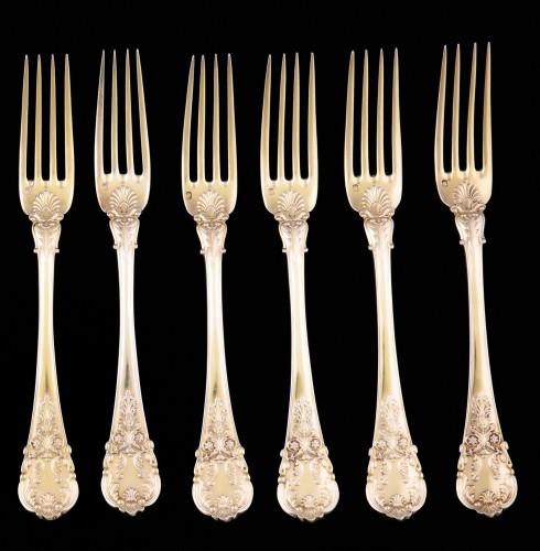 Set of 18 silver gilt dessert cutlery, Paris, 1838-1845 -