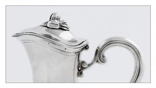 Travel ewer in solid silver by L.-J. MILLERAUD-BOUTY, Paris, 18th century - Antique Silver Style Louis XVI