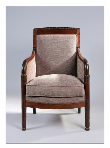 French mahogany bergere, Retour d'Égypte style, Consulat/Empire period - Seating Style Empire