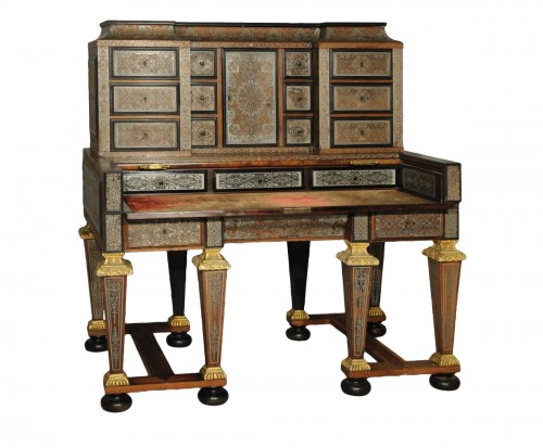 Bureau à gradin after a model by André-Charles BOULLE, Paris, 19th century