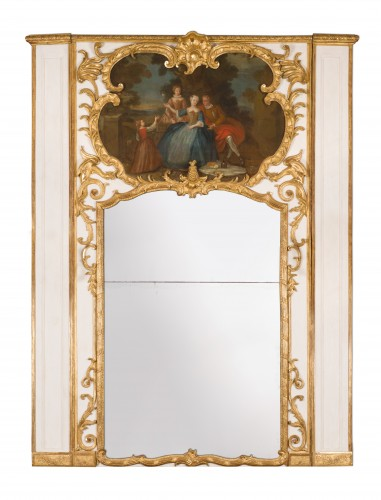 Exceptional Régence period (1715-1723) trumeau mirror, 18th century