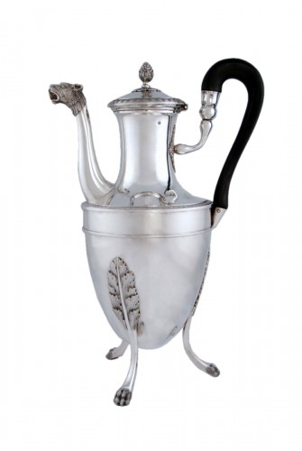 Silver tea pot with panther head, Paris 1798, goldsmith Antoine GUILLEMIN