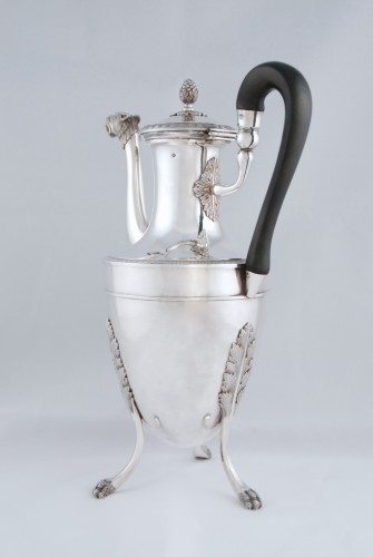 Antique Silver  - Silver tea pot with panther head, Paris 1798, goldsmith Antoine GUILLEMIN