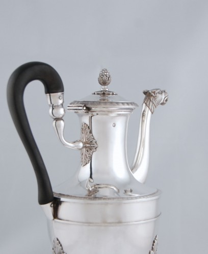 Silver tea pot with panther head, Paris 1798, goldsmith Antoine GUILLEMIN -