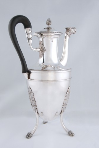 18th century - Silver tea pot with panther head, Paris 1798, goldsmith Antoine GUILLEMIN