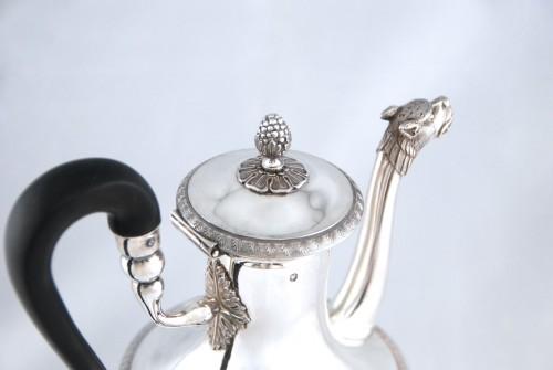 Silver tea pot with panther head, Paris 1798, goldsmith Antoine GUILLEMIN - Directoire