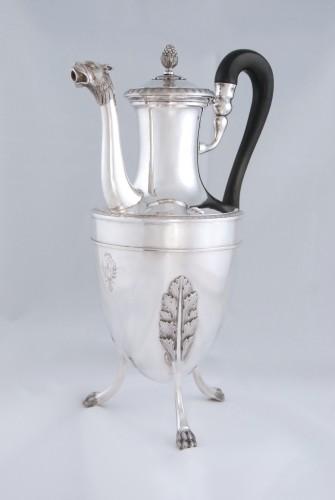 Antiquités - Silver tea pot with panther head, Paris 1798, goldsmith Antoine GUILLEMIN