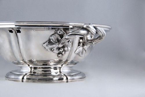 AUCOC AÎNÉ - Chafing dish and its cover in solid silver, Paris 1839-1856 -