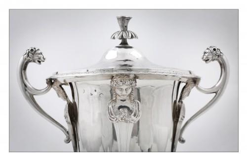 Antique Silver  - goldsmith Jean-Pierre BIBRON - Empire drageoir in sterling silver