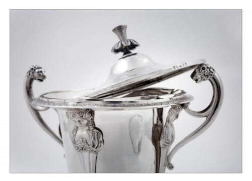 goldsmith Jean-Pierre BIBRON - Empire drageoir in sterling silver -