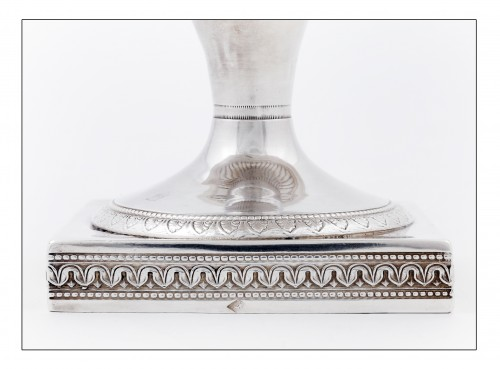 19th century - goldsmith Jean-Pierre BIBRON - Empire drageoir in sterling silver