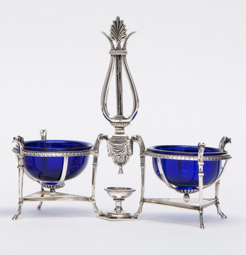 Antique Silver  - Marc JACQUART goldsmith - Pair of Empire salt cellars, Paris 1798-1809