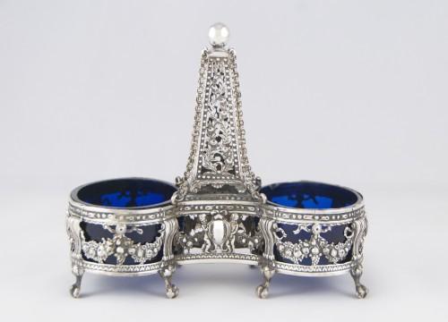 Antique Silver  - CHARPENAT J.-P., Supplier of the Crown - Pair of salt cellars, Paris 1783
