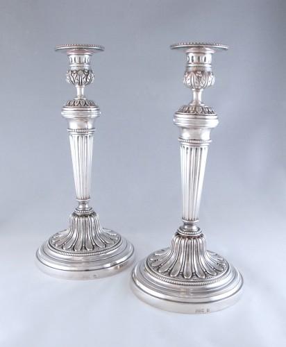 ODIOT Paris, large pair of Louis XVI candelsticks  - Lighting Style